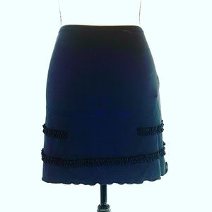 Moschino Mare Black Short Stretch Skirt Size Small